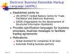 electronic business extensible markup language ebxml