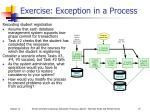 exercise exception in a process