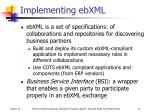 implementing ebxml