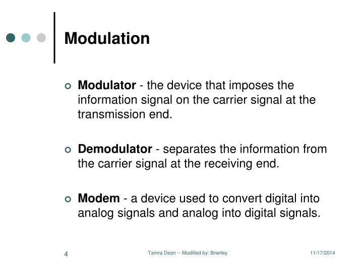 Modulation