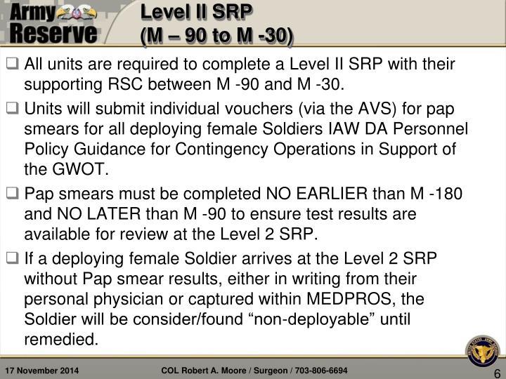 Level II SRP