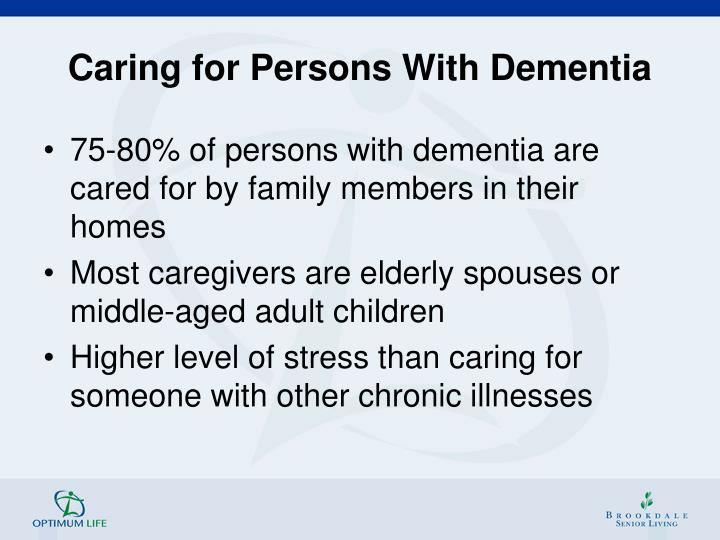Caring for Persons With Dementia