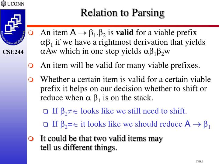Relation to Parsing