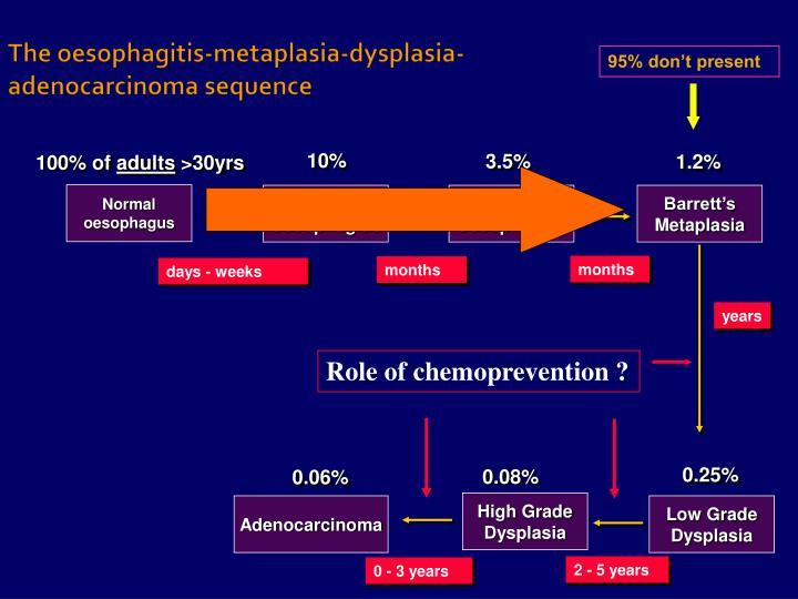 The oesophagitis-metaplasia-dysplasia-adenocarcinoma sequence