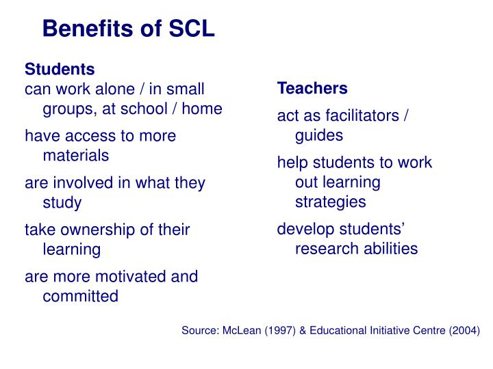Benefits of SCL