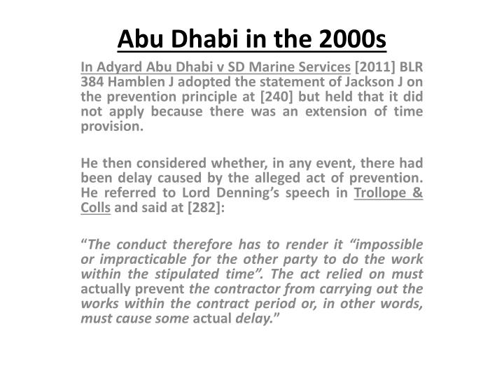 Abu Dhabi in the 2000s