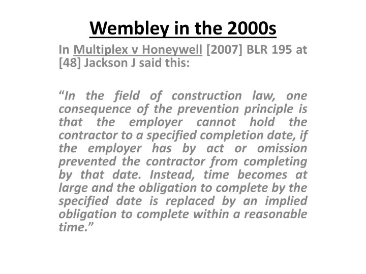 Wembley in the 2000s