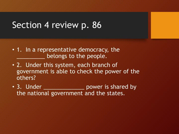 Section 4 review p 86