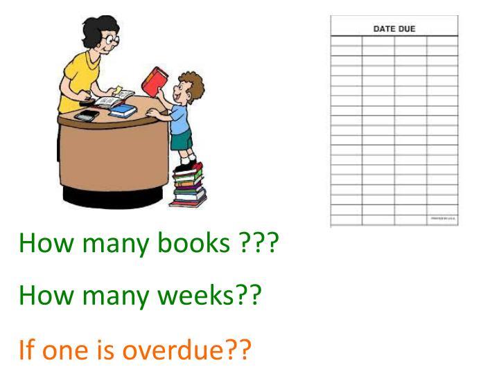 How many books ???