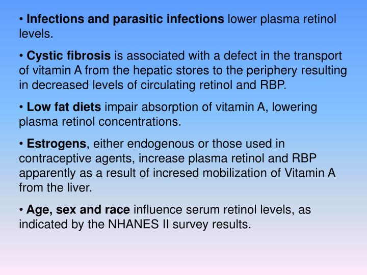 Infections and parasitic infections