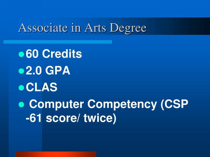 Associate in Arts Degree