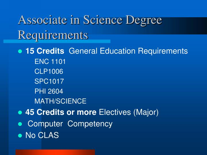 Associate in Science Degree Requirements