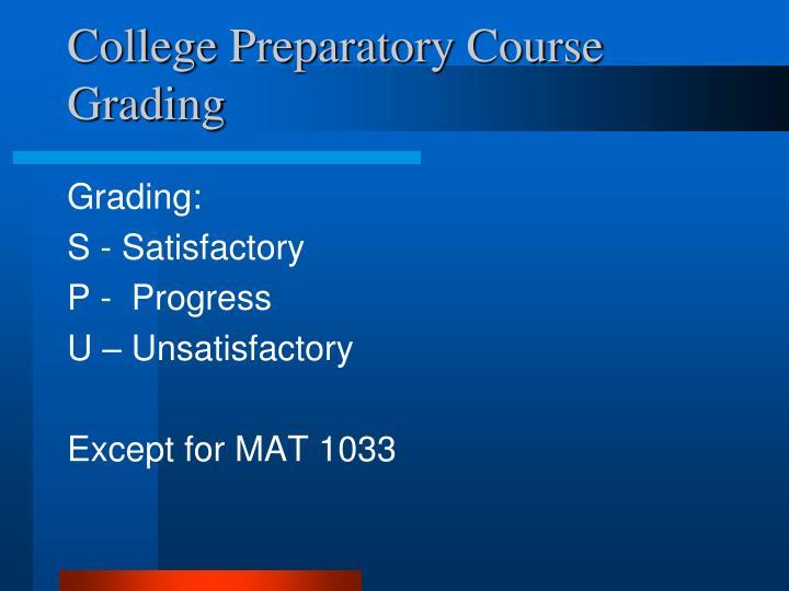 College Preparatory Course