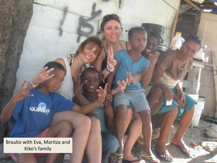Braulio with Eva, Maritza and Kiko's family