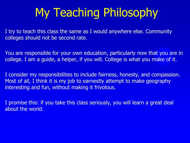 My teaching philosophy