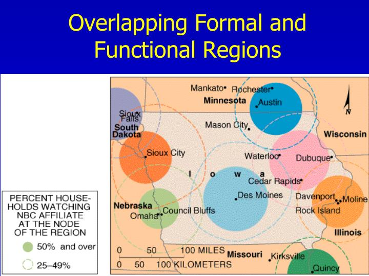 Overlapping Formal and Functional Regions