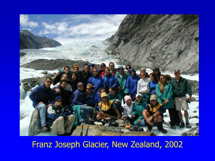Franz Joseph Glacier, New Zealand, 2002