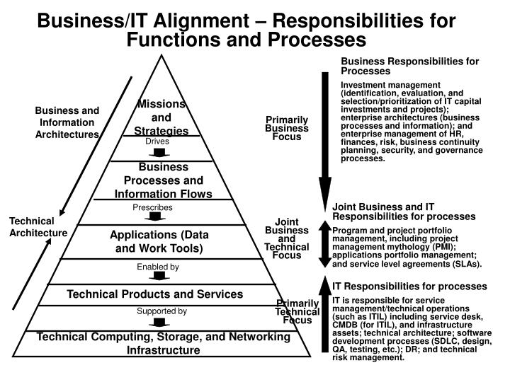 Business/IT Alignment – Responsibilities for Functions and Processes