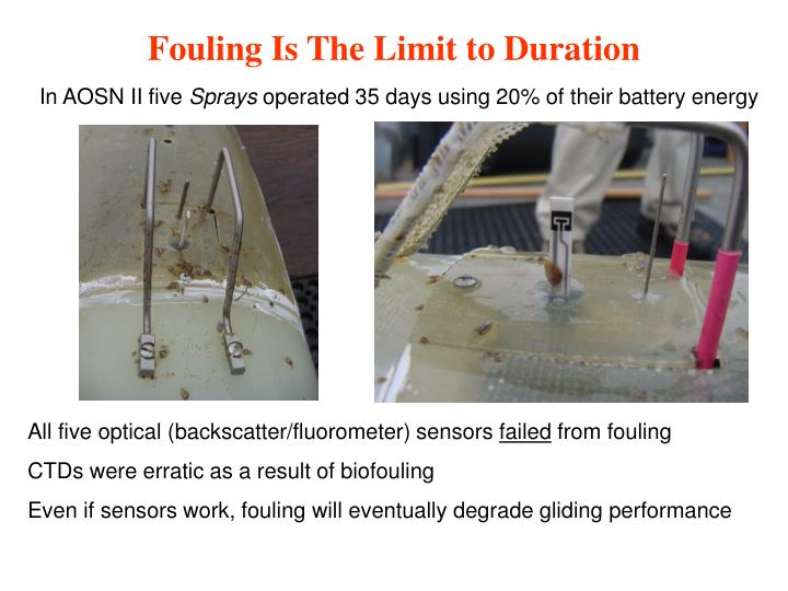 Fouling Is The Limit to Duration