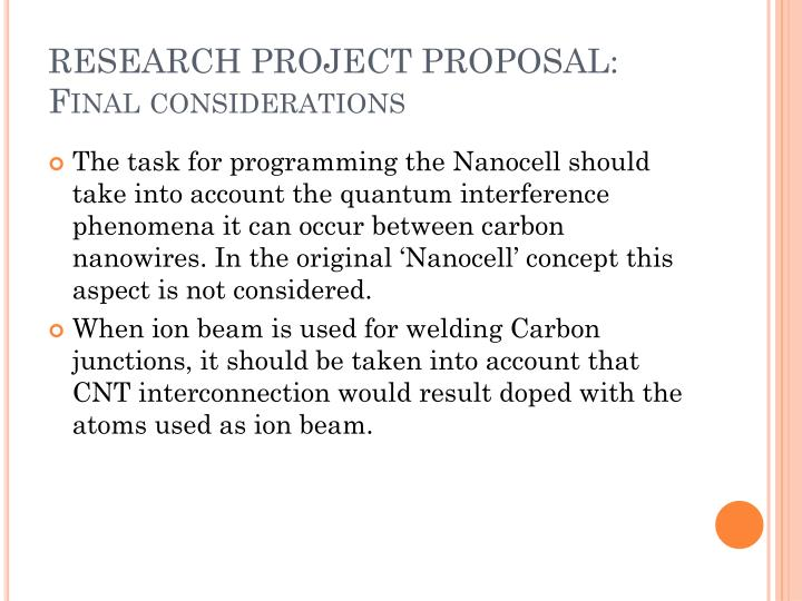 RESEARCH PROJECT PROPOSAL:
