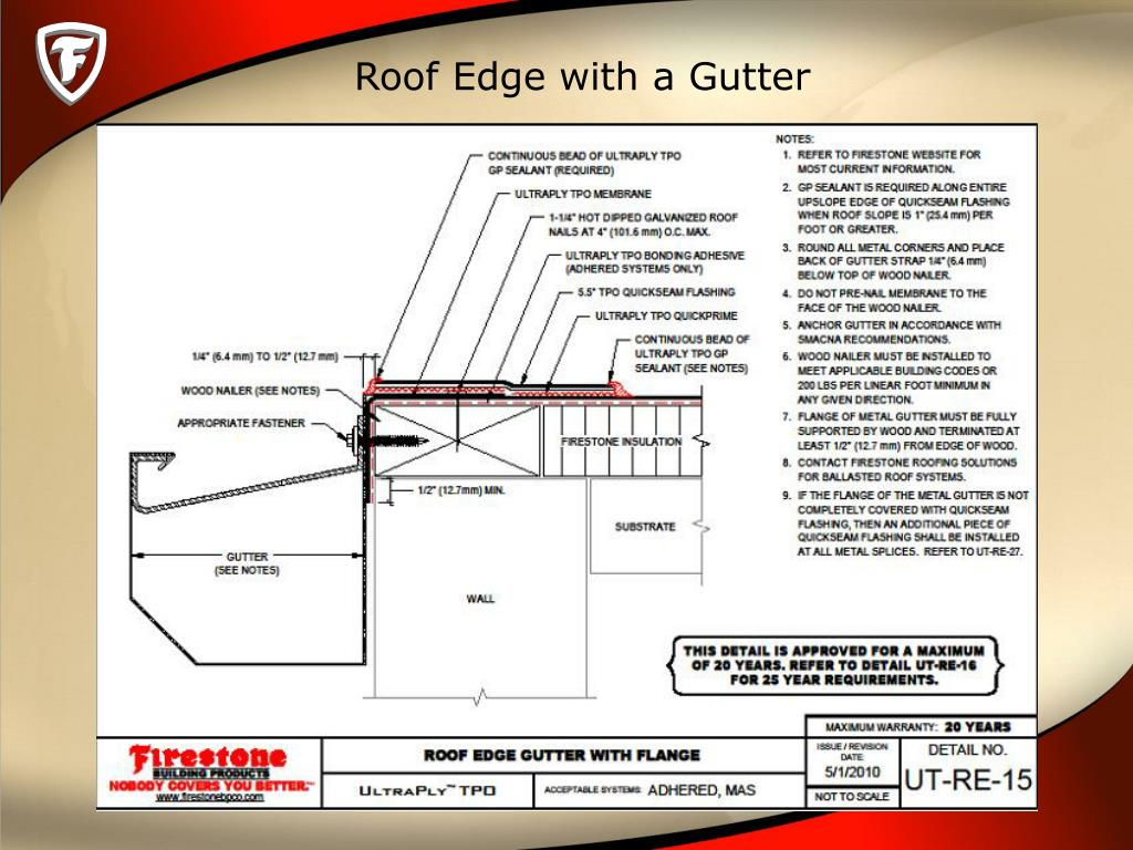 Ppt Tpo Drains Scuppers Amp Roof Edge Powerpoint