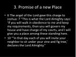3 promise of a new place
