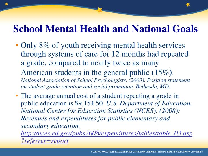 Only 8% of youth receiving mental health services through systems of care for 12 months had repeated a grade, compared to nearly twice as many American students in the general public (15%