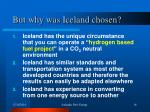 but why was iceland chosen