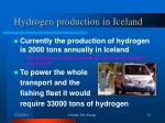 hydrogen production in iceland