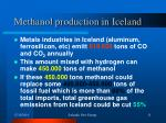 methanol production in iceland