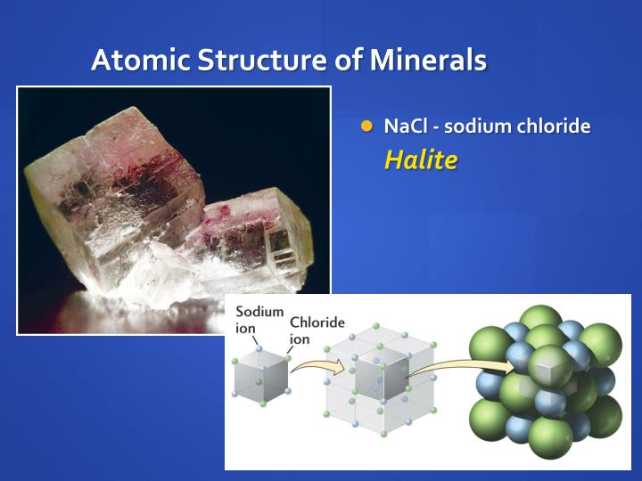 Atomic Structure of Minerals