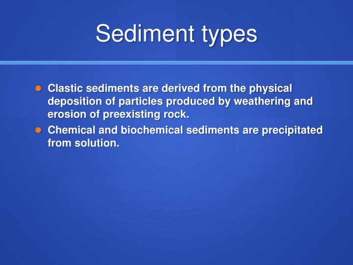Sediment types