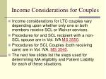 income considerations for couples