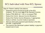 scl individual with non scl spouse