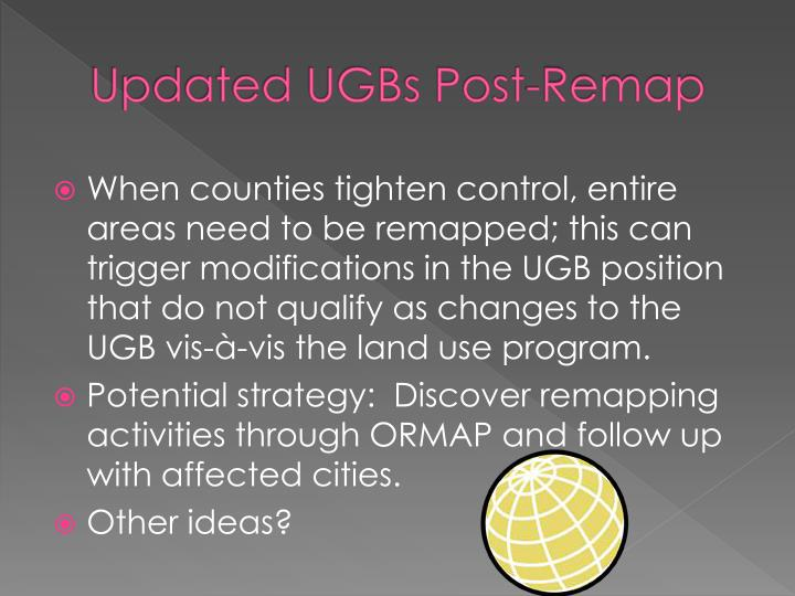Updated UGBs Post-Remap