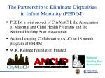 the partnership to eliminate disparities in infant mortality pedim