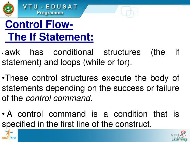 Control flow the if statement