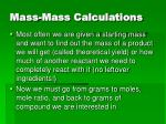 mass mass calculations