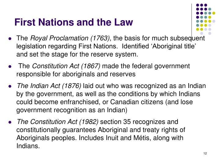 First Nations and the Law