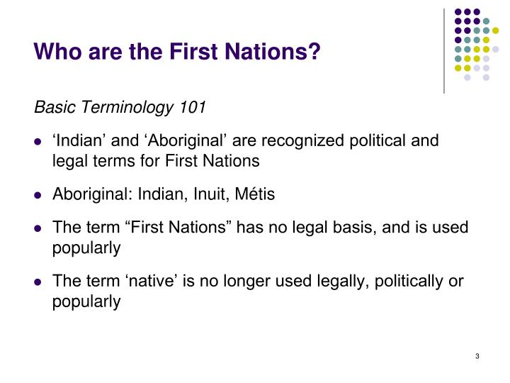 Who are the first nations