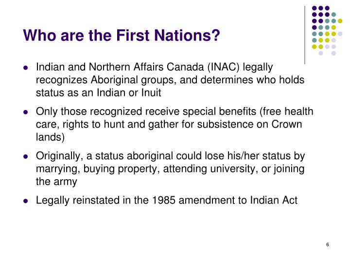 Who are the First Nations?