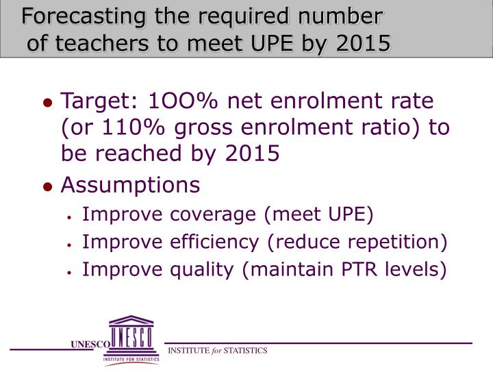 Forecasting the required number