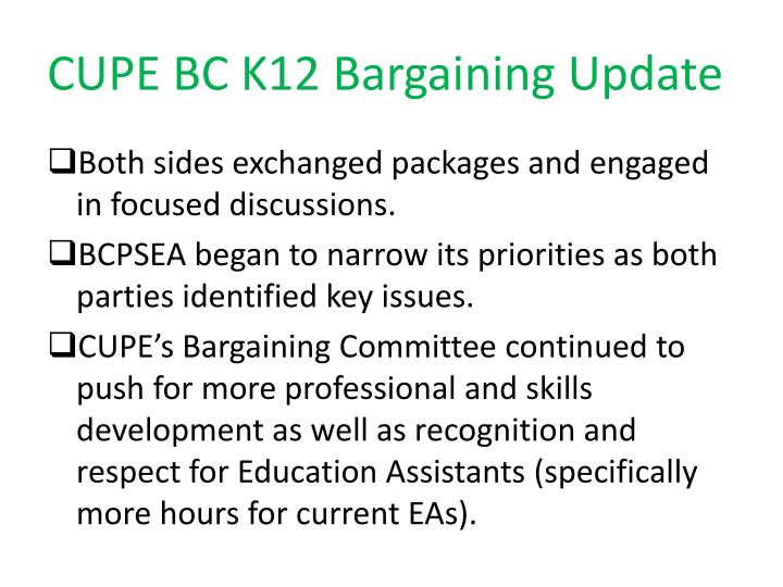 Cupe bc k12 bargaining update1