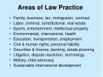 areas of law practice