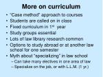 more on curriculum