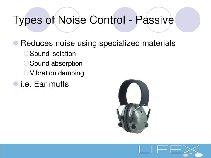 Types of Noise Control - Passive