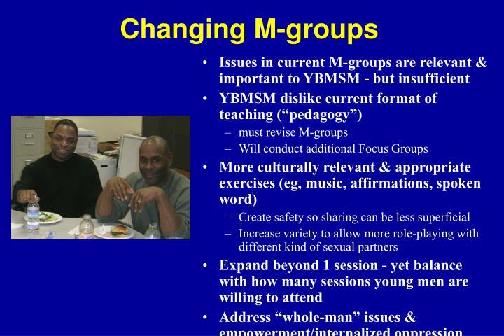 Changing M-groups