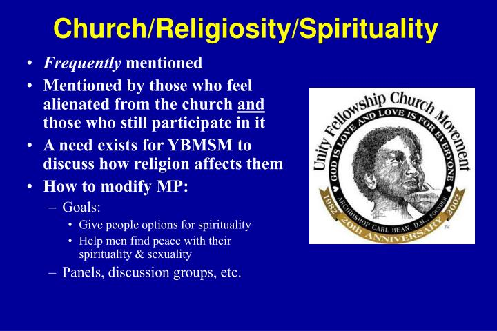 Church/Religiosity/Spirituality