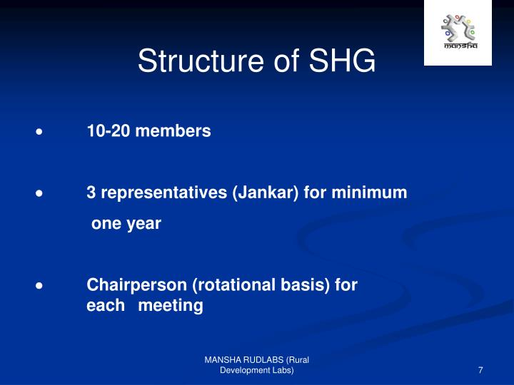 Structure of SHG