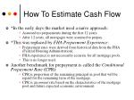 how to estimate cash flow